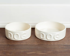 CLASSIC DOG WHITE PET BOWL - Park Life Designs