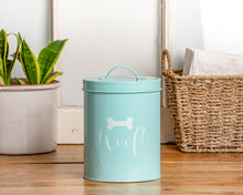 Load image into Gallery viewer, CASPER POWDER BLUE TREAT CANISTER - Park Life Designs