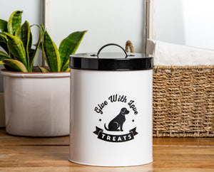 AMORE WHITE TREAT CANISTER - Park Life Designs