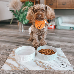 Daze placemat white food bowl