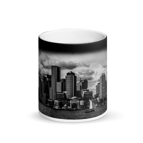 Boston Skyline - Matte Black Magic Mug