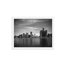 Load image into Gallery viewer, Detroit Skyline - Framed