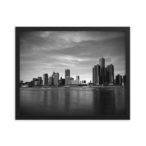 Detroit Skyline - Framed