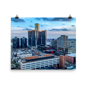 Detroit from Greektown - Print
