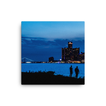 Load image into Gallery viewer, Watching the Detroit Sunset - Canvas