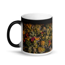 Load image into Gallery viewer, Michigan Fall Colors - Matte Black Magic Mug