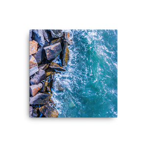 Boston Harbor Rocky Shore - Canvas