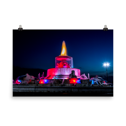 James Scott Memorial Fountain Lights - Print