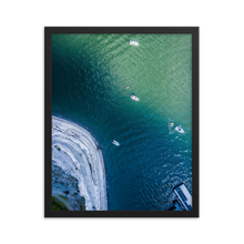Load image into Gallery viewer, Boats in the Boston Harbor - Framed