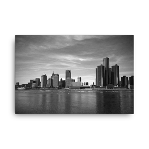Detroit Skyline - Canvas