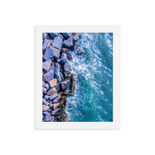 Load image into Gallery viewer, Boston Harbor Rocky Shore - Framed