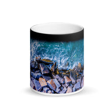 Load image into Gallery viewer, Boston Harbor Rocky Shore - Matte Black Magic Mug