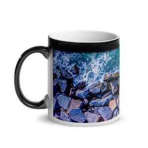 Boston Harbor Rocky Shore - Glossy Magic Mug