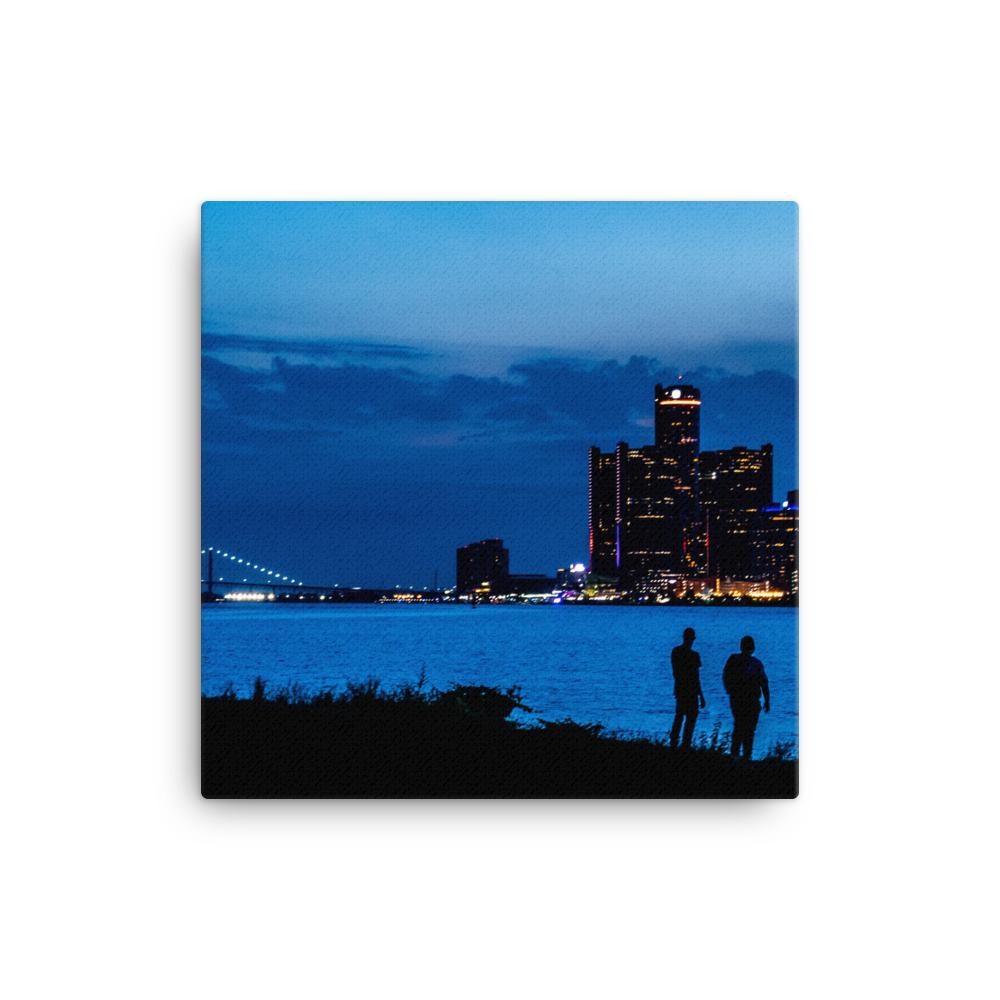 Watching the Detroit Sunset - Canvas