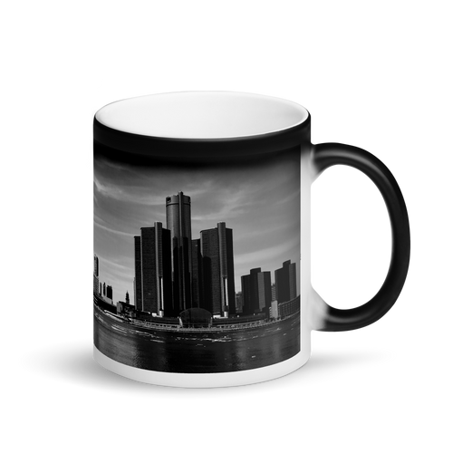 Detroit Skyline - Matte Black Magic Mug