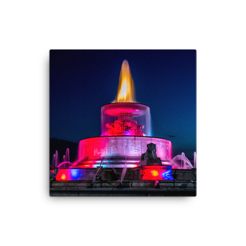 James Scott Memorial Fountain Lights - Canvas