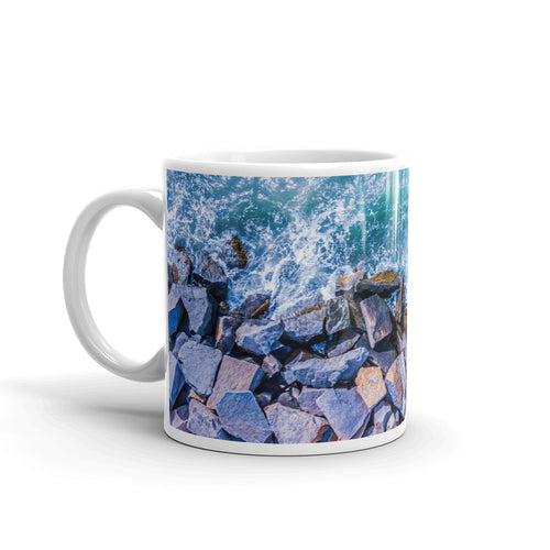 Boston Harbor Rocky Shore - Mug