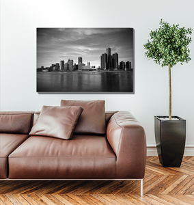 Detroit Skyline - Metal Print