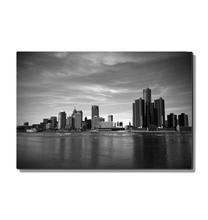 Load image into Gallery viewer, Detroit Skyline - Metal Print