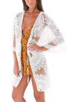 Sheer Applique 70's Style Beach Cover Up