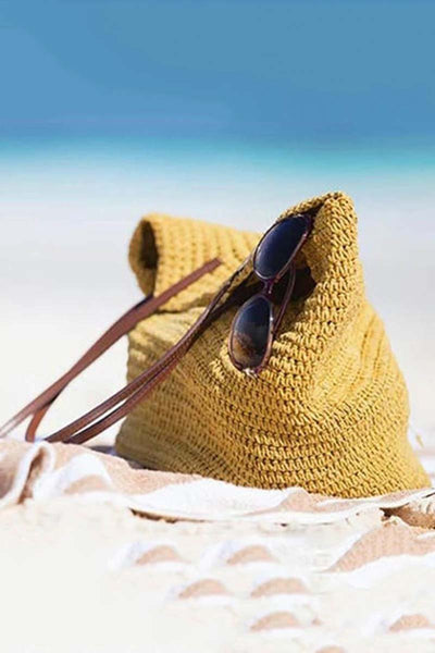Large Straw Beach Bag