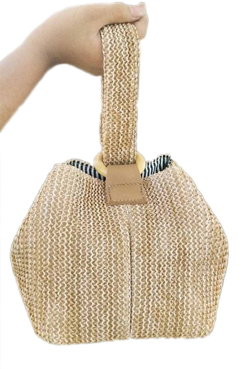 Straw Lock Beach Bar Bag