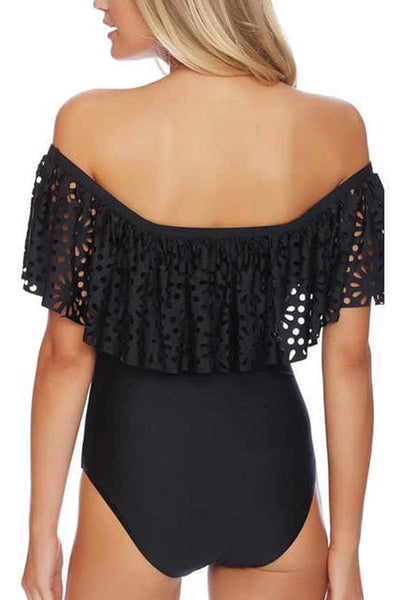 Off The Shoulder Lacework Swimsuit