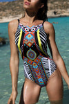 Bold Multi-Print Aztec Swimsuit