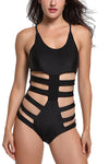 Cut-Out Panel Body-Con Swimsuit