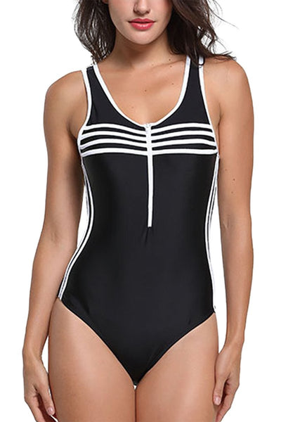 Sporty Athleisure One Piece Swimsuit