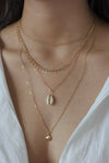 Beach Shell Multi-Layer Detailed Necklace