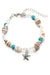 Starfish And Seashell Beaded Anklet