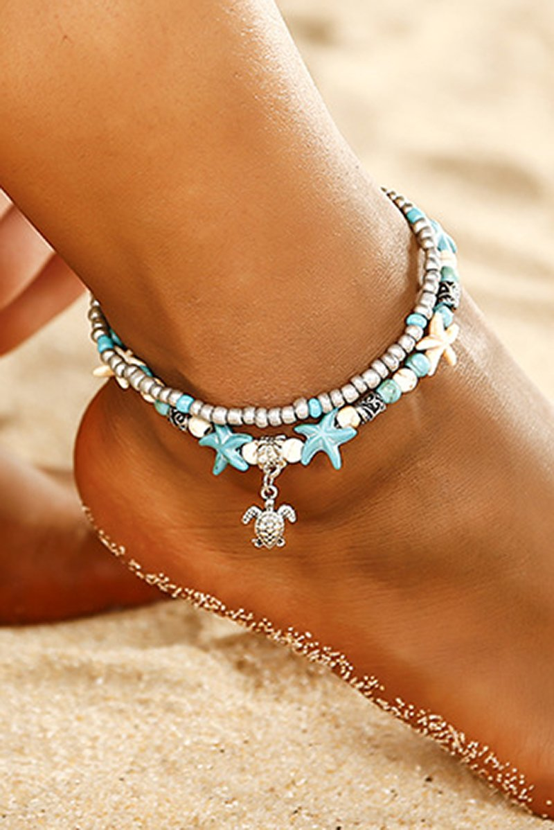 Double Beaded Layered Starfish Anklet