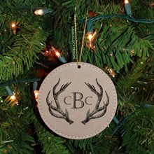 Load image into Gallery viewer, Antler Ornament - Circle