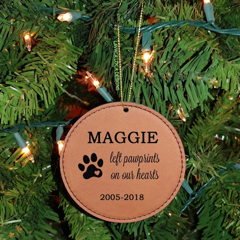 Pet Memorial - Circle Ornament