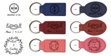 Load image into Gallery viewer, Circle Initial Keychain - Vegan Leather