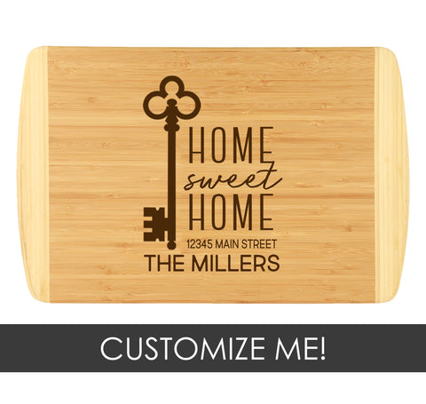 Two-Tone Cutting Board - Home Sweet Home