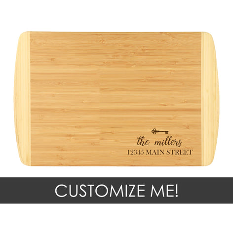 Two-Tone Cutting Board - House Key