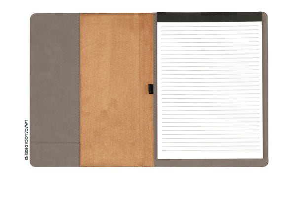 Custom Name Leatherette Portfolio - Vegan Leather, Legal Pad