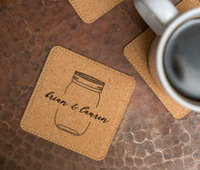 Load image into Gallery viewer, Mason Jar Cork Coasters - Set of 6