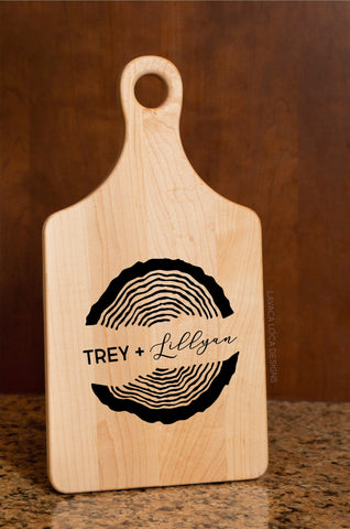 Wood Rings Maple Paddle Board