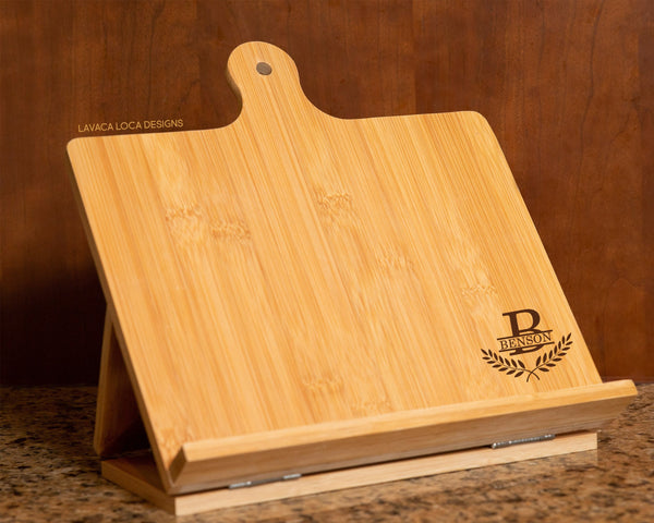 Laurel Wreath Chef's Easel - Cookbook Stand, Tablet Holder
