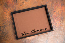 Load image into Gallery viewer, Custom Name Serving Tray - Vegan Leather