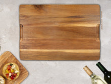 Load image into Gallery viewer, Wood Rings Wood/Slate Cheese Board - Acacia Wood