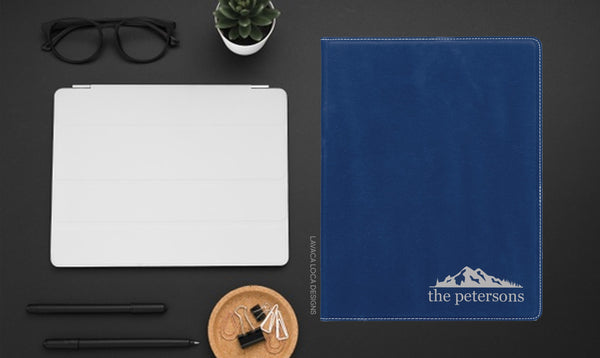 Mountain Range Leatherette Portfolio - Vegan Leather, Legal Pad