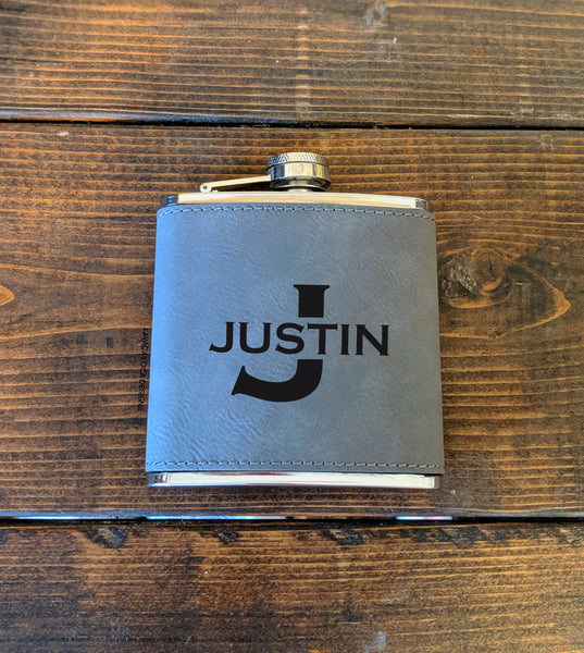 First Name Flask - Vegan Leather