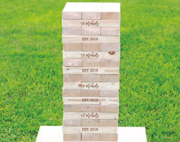 Custom Wooden Tower Game