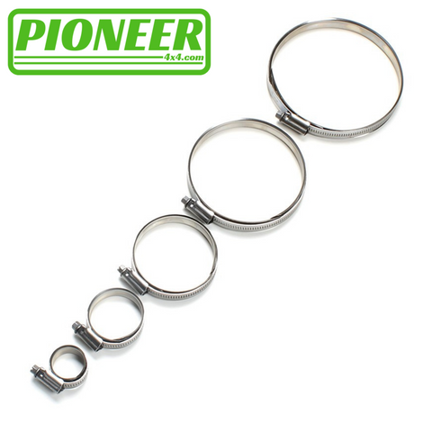 STAINLESS STEEL MIKALOR HOSE CLIPS
