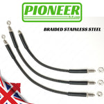 Land Rover Defender Td5 All Variants With ABS Male fittings front hoses 1998-2007 Extended / Standard Brake Hose Kit