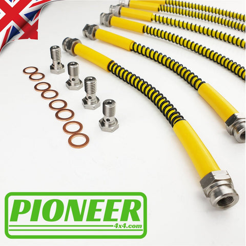 Land Rover Defender Tdci All Variants 2007- Extended / Standard Brake Hose Kit Non-ABS